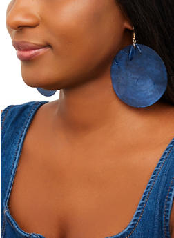 Round Shell Earrings - 1135062928025