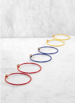 Multi Color Hoop Earring Trio - 1135062928030