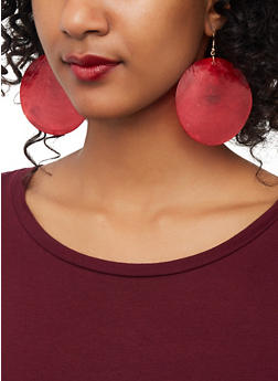 Shell Disc Earrings - 1135062928052