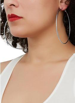 Tri Color Trio of Hoop and Stud Earrings - 1135062928831