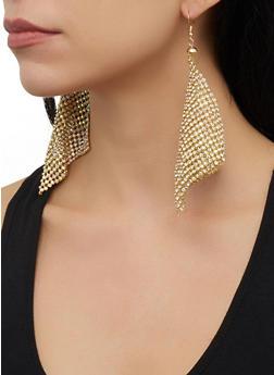 Rhinestone Kite Drop Earrings - 1135062929427