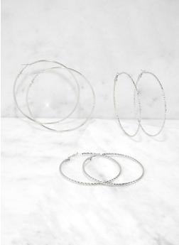Metallic Skinny Hoop Earring Trio | 1135062929524 - 1135062929524