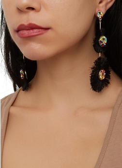 Beaded Fringe Drop Earrings - 1135071210095
