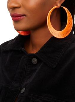 Threaded Hoop Earrings - 1135071210306