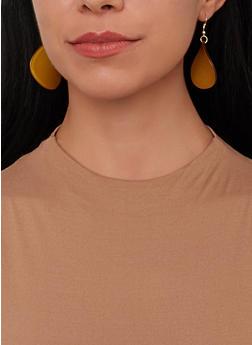 Colored Teardrop Earring Trio - 1135071430112