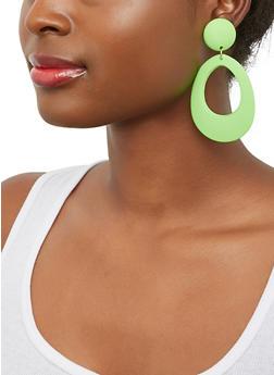 Matte Open Drop Earrings - 1135071431719