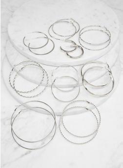 Assorted Twist Metallic Hoop Earrings - 1135071431902
