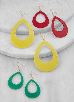 Multi Size Teardrop Earring Trio - 1135071431907