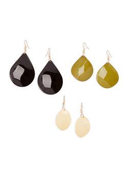 Plastic Drop Earrings - 1135071432010