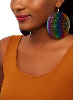 Large Metallic Disc Earrings - 1135071434000