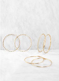 Trio of 80mm Hoop Earrings - 1135072690658