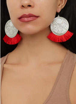 Glitter Tassel Earrings - 1135072693241
