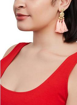 Triple Tassel Drop Earrings - 1135072693365