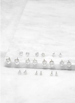 Set of Assorted Cubic Zirconia Stud Earrings - 1135072693410