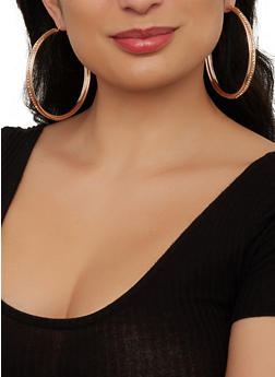 Large Hoop Earring Trio - 1135073840663