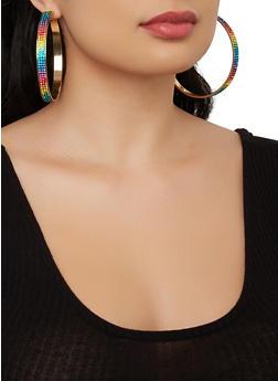 Set of 6 Assorted Stud and Hoop Earrings - 1135073841022