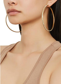 Set of 9 Assorted Hoop Earrings - 1135073841370