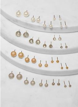 Assorted Ball Stud Earrings - 1135073844779