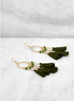 Chain Tassel Drop Earrings - 1135073846086