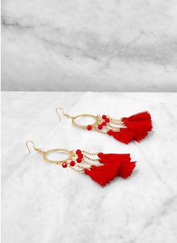 Chain Tassel Drop Earrings - 1135073846086