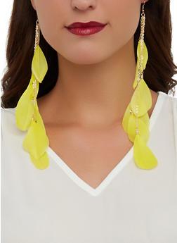 Long Feather Drop Earrings - 1135073846322