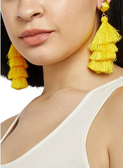 Layered Tassel Earrings - 1135073848989