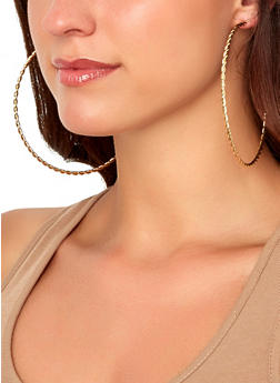 Oversized Metallic Hoop Earring Trio | 1135073849085 - 1135073849085