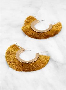 Fringe Open Hoop Earrings - 1135074141223