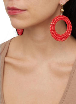 Woven Circle Earrings - 1135074141577