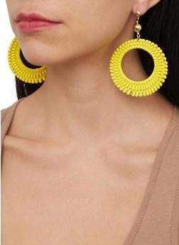 Woven Circle Earrings - 1135074141577