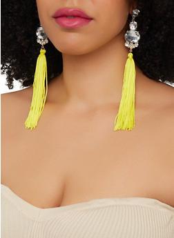Rhinestone Tassel Chandelier Earrings - 1135074371245