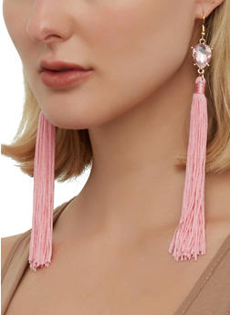 Rhinestone Tassel Drop Earrings | 1135074752204 - 1135074752204