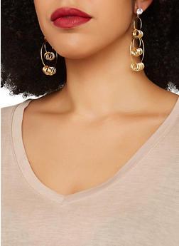 Assorted Glitter and Metallic Earring Trio - 1135074974009