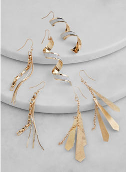 Assorted Dangle Earring Trio - 1135074974050