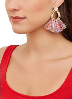 Teardrop Tassel Earrings - 1135074974194