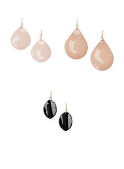 Plastic Teardrop Earrings - 1138003200242