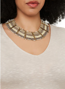 Beaded Collar Necklace - 1138018433394