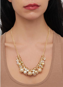 Womens Chain Cluster Necklace