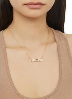Set of 5 Metallic Necklaces - 1138035154538