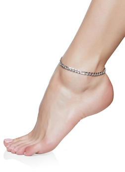Curb Chain Anklet Trio - 1138035154641