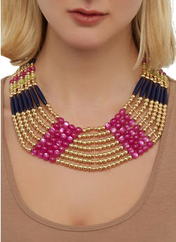 Multi Beaded Collar Necklace | 1138035157073 - 1138035157073
