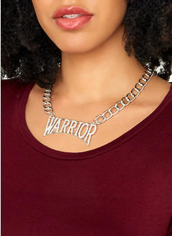 Warrior Chain Necklace with Stud Earrings - 1138035159032