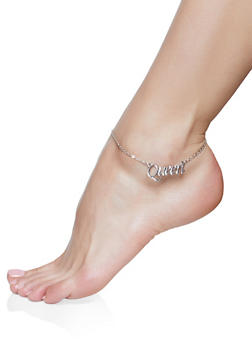 Queen Charm Anklet Trio - 1138057691777