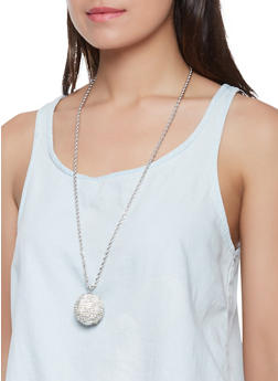 Disco Ball Necklace and Stud Earrings - 1138062816930