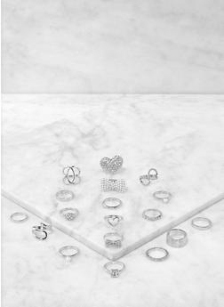 18 Stackable Metallic Rings - 1138062920157
