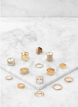 Set of 14 Assorted Rings - 1138062923044