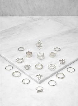 Set of Assorted Metallic Rings - 1138062926514