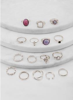 Set of 15 Metallic Rings - 1138062927589