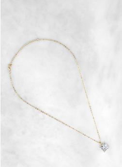 Square 12mm Cubic Zirconia Necklace - 1138071431214