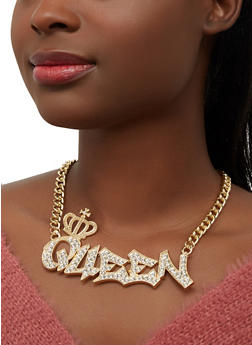 Queen Curb Chain Necklace - 1138071435559